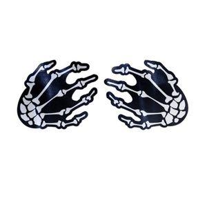 Pastease Other - Reusable Nipple Pasties GLOW Skeleton Hands